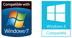 Microsoft Windows 7 Windows 8 Compatible