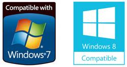 Microsoft Windows 7 Windows 8 Compatible